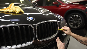 applying clear bra to a BMW
