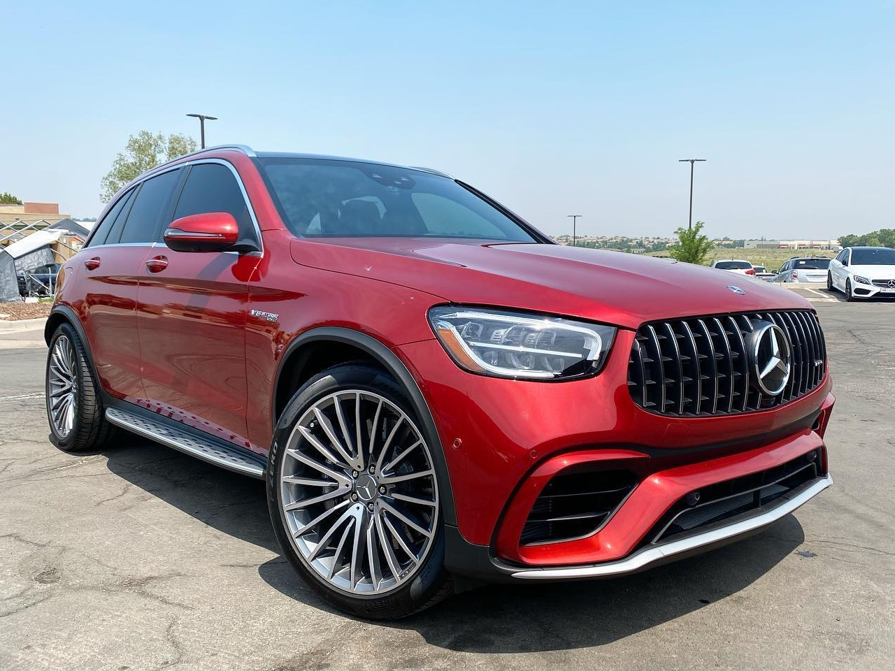 Mercedes Benz AMG GLC63 window tint front side view