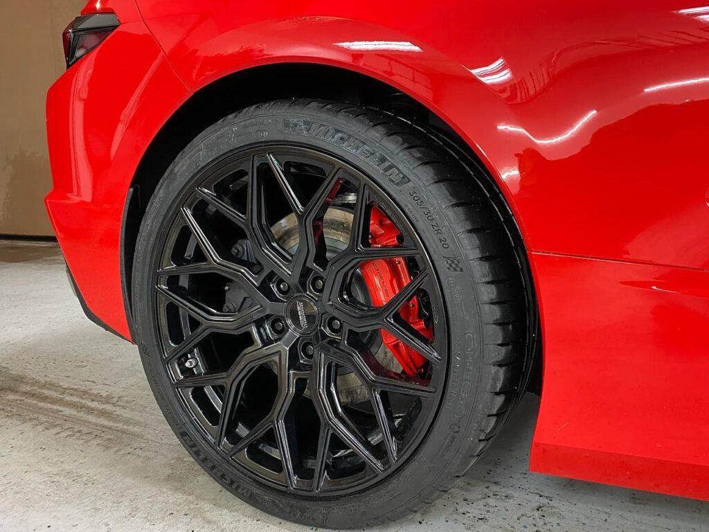 C8 Corvette ceramic plus tint and custom tires