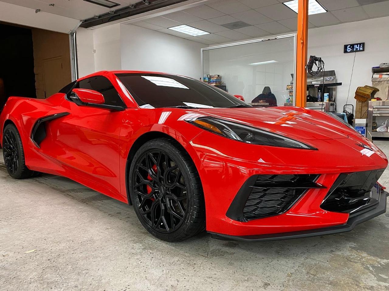 C8 Corvette ceramic plus tint side view